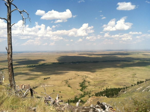 A view of the plains north of Bear Butte
